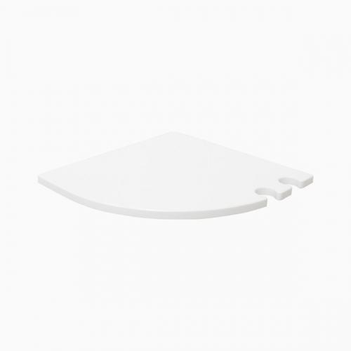 마샤2 인조대리석 오각 욕실코너선반(화이트)-BT