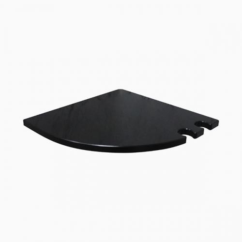 데이브 무지주 코너선반 12T B형(블랙)-BT