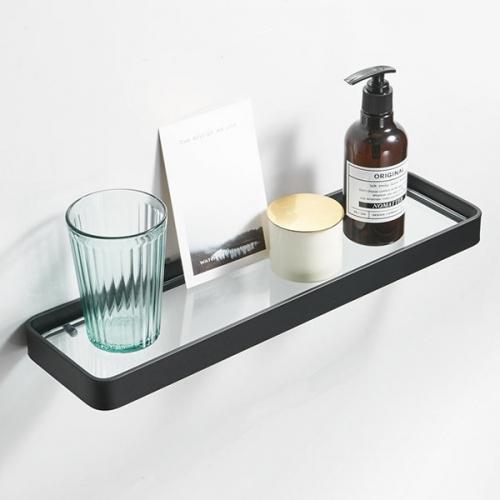 모단 알루미늄+유리 욕실일자선반