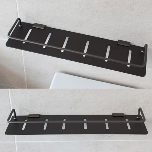 블랙 알루미늄 욕실일자선반(45cm/국산)
