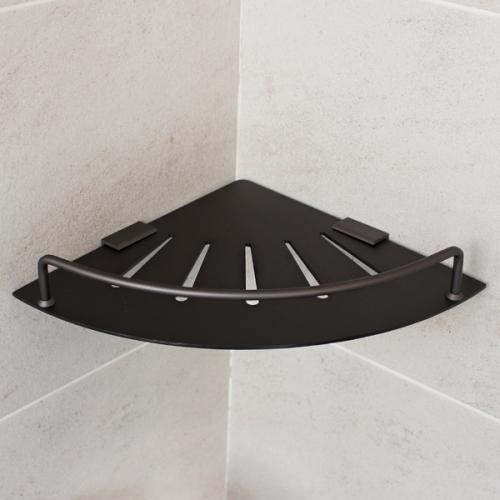 블랙 알루미늄 욕실코너선반(국산)