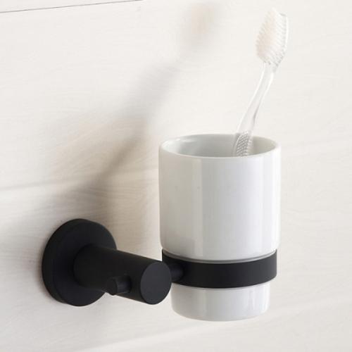 무광 블랙 하프 컵걸이