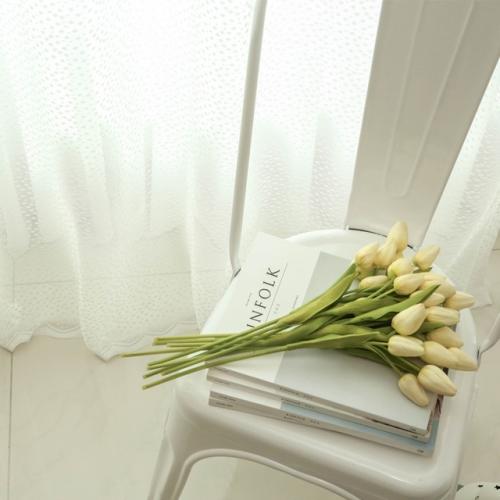 로맨틱 스노우 레이스 커튼