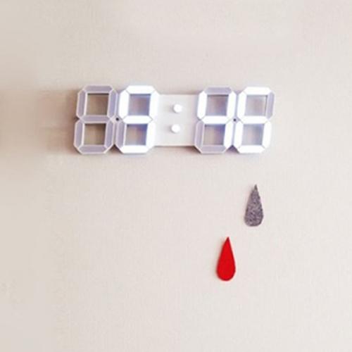 화이트LED디지털벽시계/LED벽시계/집들이선물/디지털시계