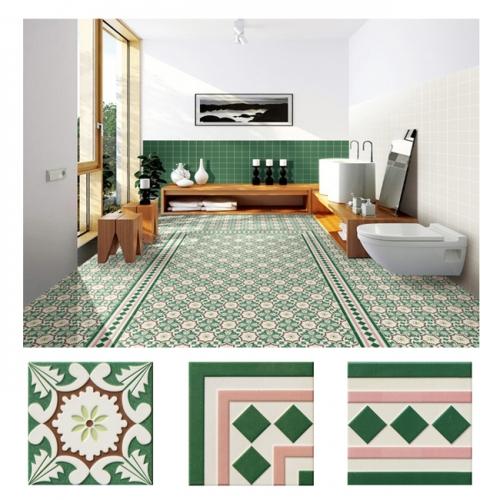 북유럽 패턴타일 200mmx200mm (2095) 자기질타일 주방 현관 욕실 포인트타일 벽 바닥타일