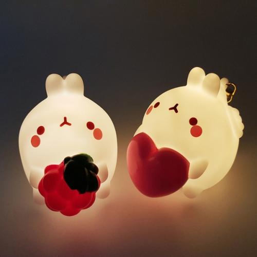 [당일발송] 몰랑 키체인 LED 조명