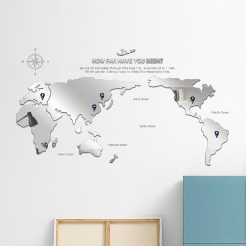 D.World map 아크릴 미러