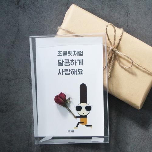 초코남 꽃편지/빼빼로데이엽서/심플형카드