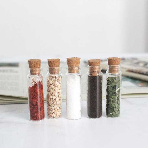 초소형 미니 샘플 유리병 낱개판매/코르크병/1x4cm