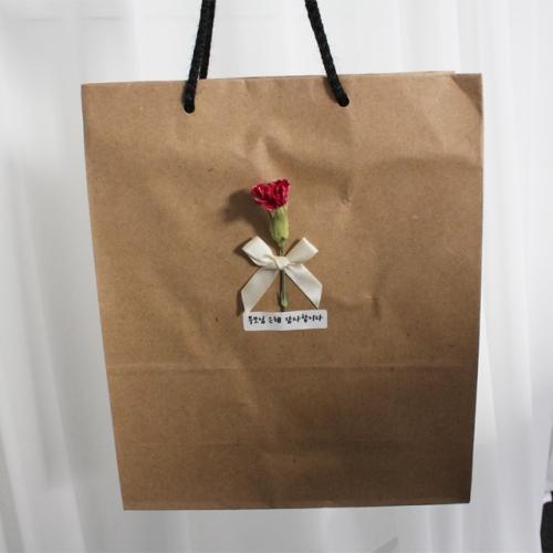 카네이션 크라프트 선물가방/종이쇼핑백/어버이날, 스승의날 선물