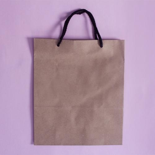 무지 크라프트 종이쇼핑백 검정끈 낱개판매/2가지 사이즈