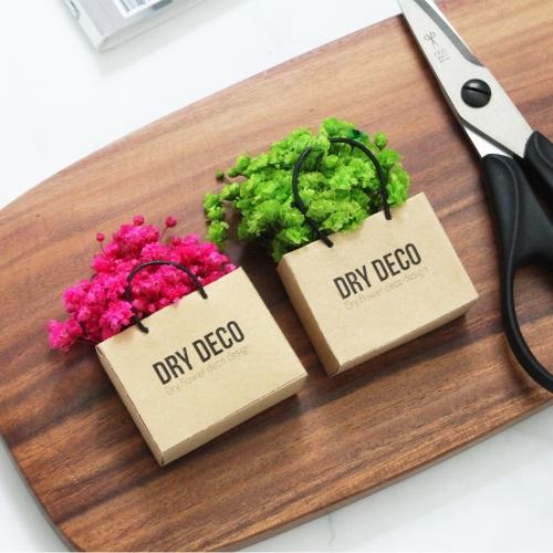 프리저브드 미니안개꽃 냉장고자석/미니어쳐 쇼핑백/플라워 마그넷