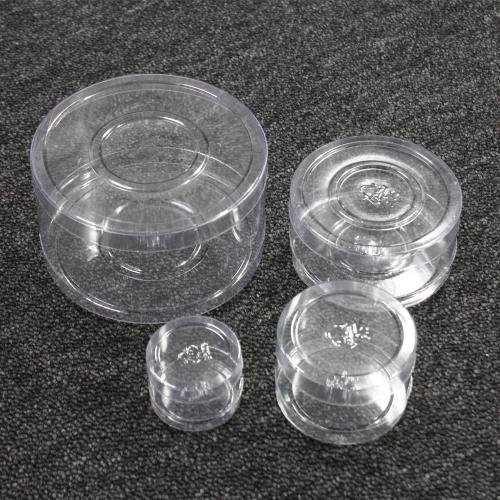 PVC 납작 원통 투명케이스/작은 악세사리 선물상자 마카롱 쿠키