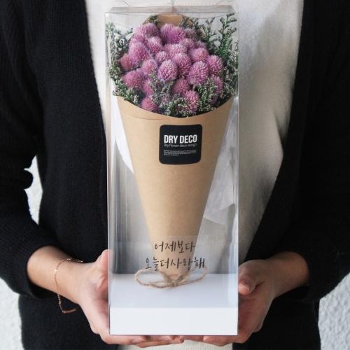 천일홍 드라이플라워 미디엄 꽃다발/고백선물 프리저브드꽃다발