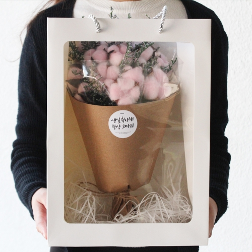 목화꽃다발 드라이플라워 큰꽃다발 세트/라지사이즈 남자친구 여자친구 졸업식 꽃선물