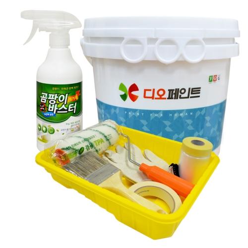 [베란다리폼세트] 결로/곰팡이방지페인트 세라믹플러스 4L +도구세트 + 곰팡이제거제