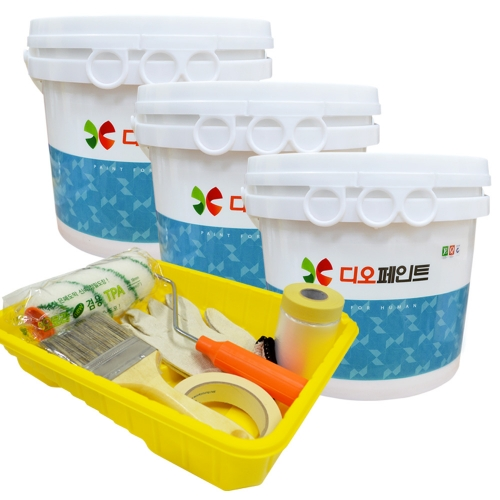 [베란다리폼세트] 결로/곰팡이방지페인트 세라믹플러스 4L, 3개 +도구세트