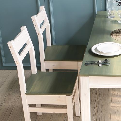 아이비 컬러 원목의자