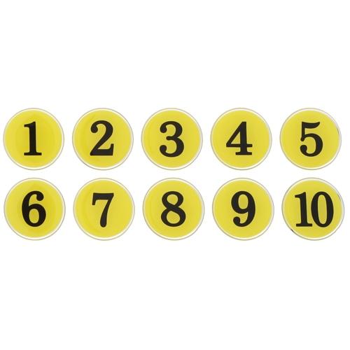 1100 - 번호판 에폭시 35mm 노랑 번호표 테이블 넘버