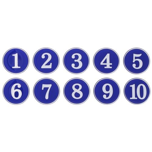 1110 - 번호판 에폭시 35mm 파랑 번호표 테이블 넘버