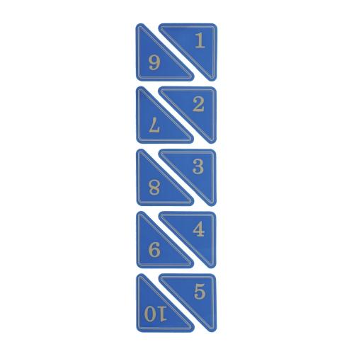 1120 - 번호판 삼각 55x55mm 파랑 번호표 테이블 넘버