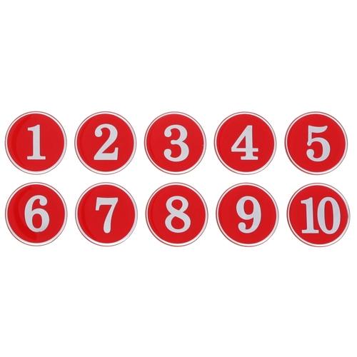 1150 - 번호판 에폭시 35mm 빨강 번호표 테이블 넘버