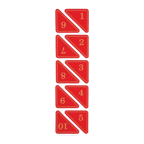 1160 - 번호판 삼각 55x55mm 빨강 번호표 테이블 넘버