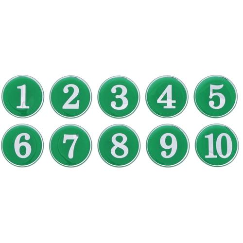 1190 - 번호판 에폭시 35mm 초록 번호표 테이블 넘버