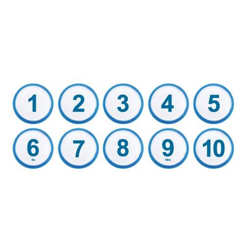 1310 - 번호판 아이넘버 35mm 파랑 번호표 테이블 넘버