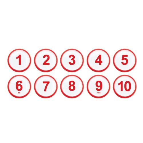 1320 - 번호판 아이넘버 35mm 빨강 번호표 테이블 넘버