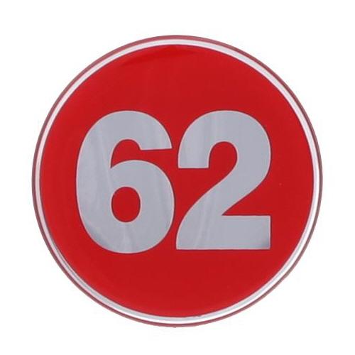 1492 - 번호판 에폭시 62mm 빨강 번호표 테이블 넘버