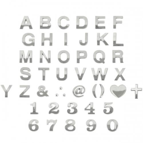 4822 - 문자 입체 은색 돌출 숫자 영문 특수문자