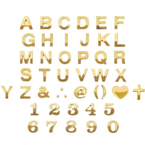 4821 - 문자 입체 금색 돌출 숫자 영문 특수문자