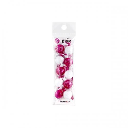 1218 - 자석 달팽이 분홍 마그넷 캐릭터