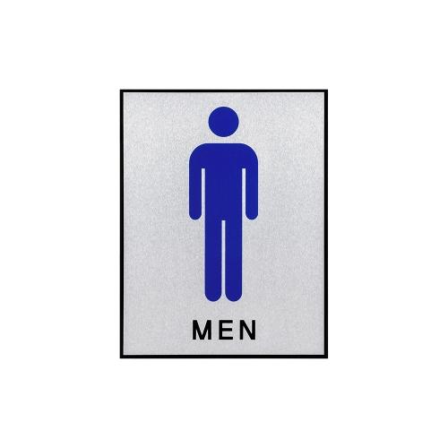1293 - 화장실 남자 170x220mm 사인 문패 표지판 알루미늄