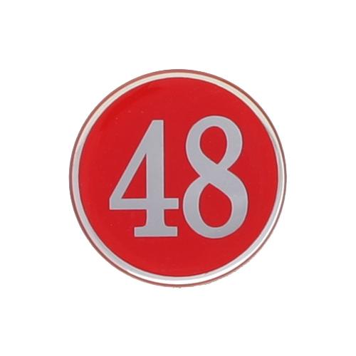 4842 - 번호판 에폭시 48mm 빨강 번호표 테이블 넘버