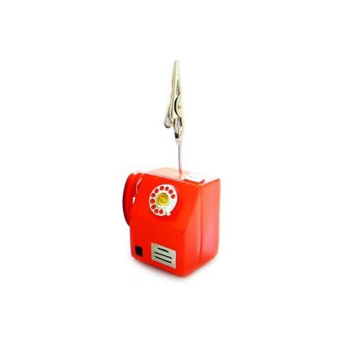 8121 - 메모클립 공중전화 스탠드 메모꽂이 홀더