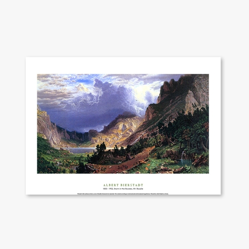 [명화포스터] Storm in the Rockies, Mt. Rosalie  - 앨버트 비어슈타트 018