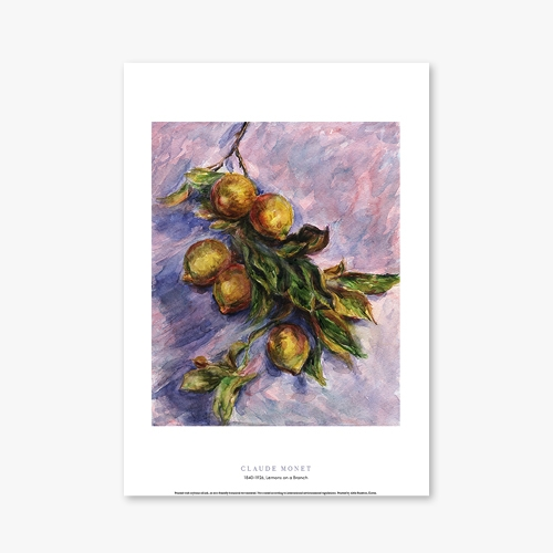 [명화포스터] Lemons on a Branch - 클로드 모네 003