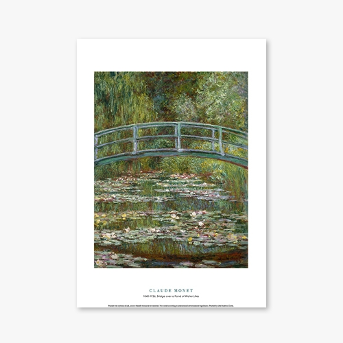 [명화포스터] Bridge over a Pond of Water Lilies - 클로드 모네 006