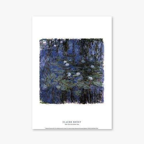 [명화포스터] Blue Water Lilies - 클로드 모네 008
