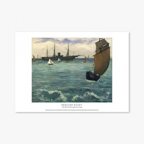 [명화포스터] The Kearsarge at Boulogne - 에두아르 마네 015