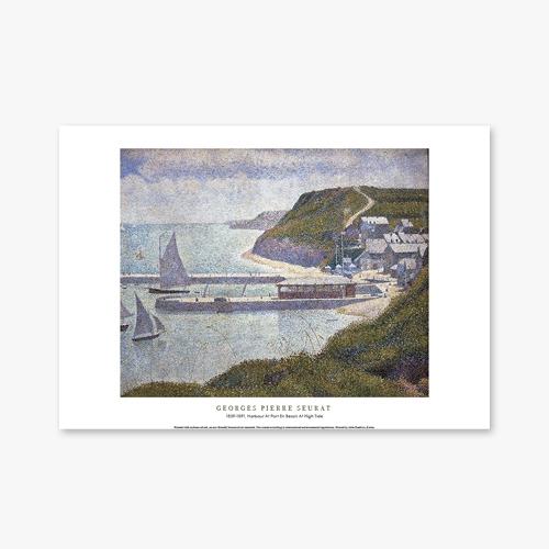 [명화포스터] Harbour At Port En Bessin At High Tide - 조르주 쇠라 004