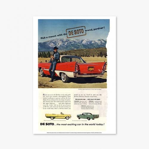 [빈티지아트포스터] Car ADS DE SOTO - 067