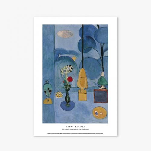 [명화포스터] La glace sans tain (The Blue Window) - 앙리 마티스 011