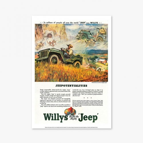 [빈티지아트포스터] Willys Jeep - 123