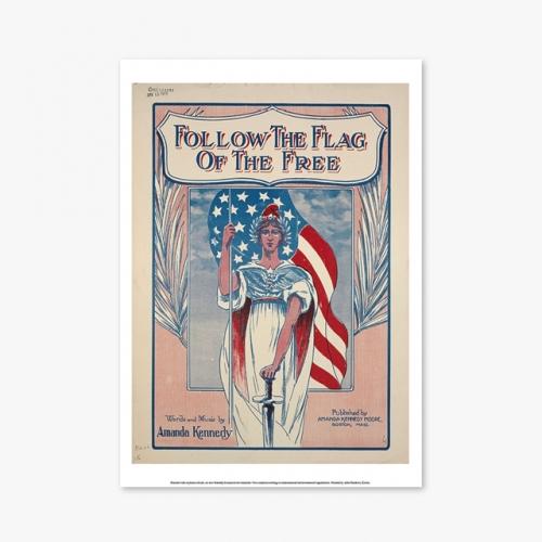 [빈티지아트포스터] Follow the Flag - 147