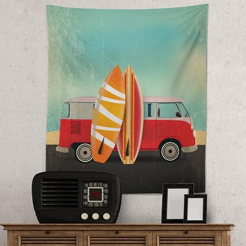 [헬로우아티스트] surfing car 태피스트리 TAP51