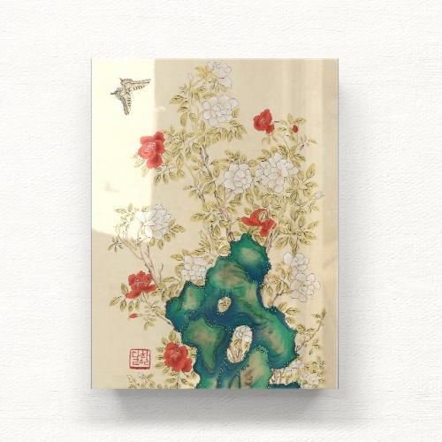 꽃과 나비가 있는 아름다운 풍경 아크릴 일러스트 그림액자by하얀달(334942)