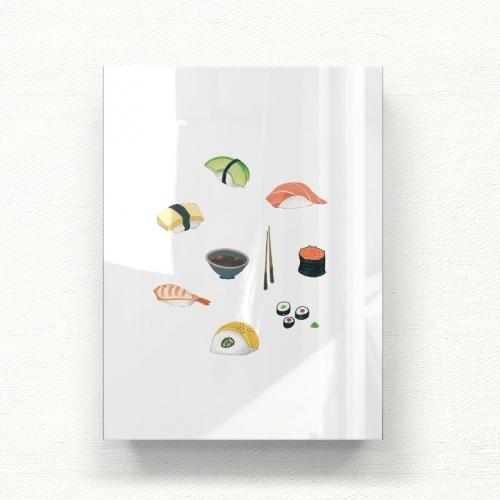 초밥 세트 일러스트 아크릴 그림액자by포포(453981)